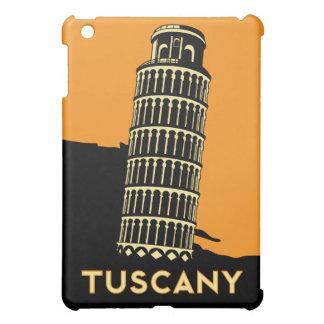 poster retro del viaje del art déco de Toscana Ita iPad Mini Cárcasa