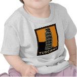 Poster retro del viaje del art déco de Toscana Ita Camiseta