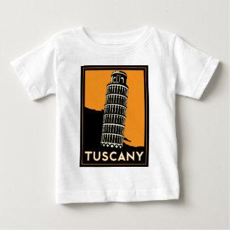 Poster retro del viaje del art déco de Toscana Playera