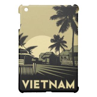 poster retro del viaje del art déco de Vietnam iPad Mini Carcasa