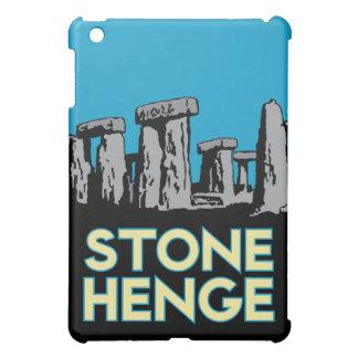 poster retro del viaje del art déco del stonehenge iPad mini cobertura