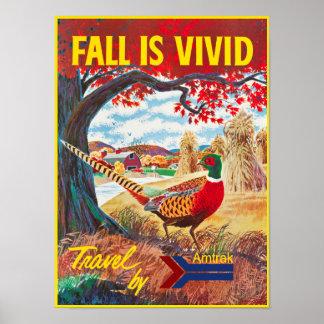 Poster retro del viaje del viaje de los colores de