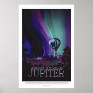 Poster retro del viaje espacial del estilo - póster