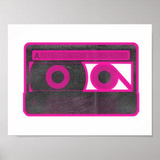 Poster retro/del vintage de casete de la cinta