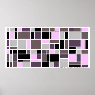Poster: Retro Grape Squares