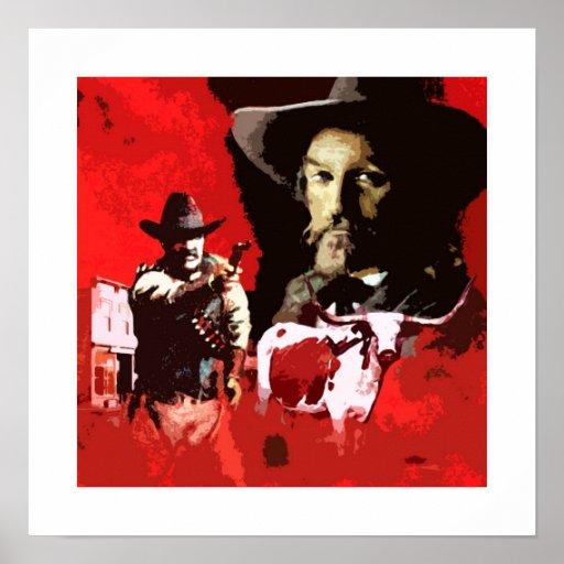 Poster retro occidental del arte pop