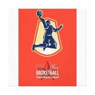 Poster retro por invitación del favorable balonces impresión en lienzo estirada