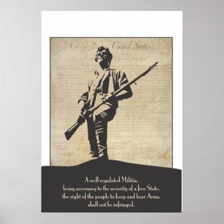 Poster revolucionario grande del Minuteman Póster