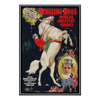 Poster Ringling Brothers Circus Madam Ada Castello