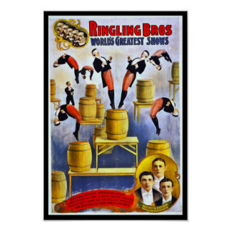 Poster Ringling Brothers Circus Raschetta Brothers
