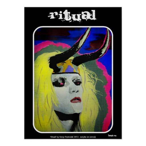 "Poster ""ritual"""
