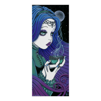 "Poster ritual de Fae de la luna celestial del ""Som"
