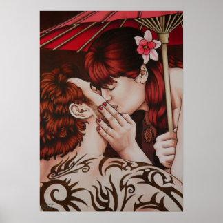 Poster robado del beso