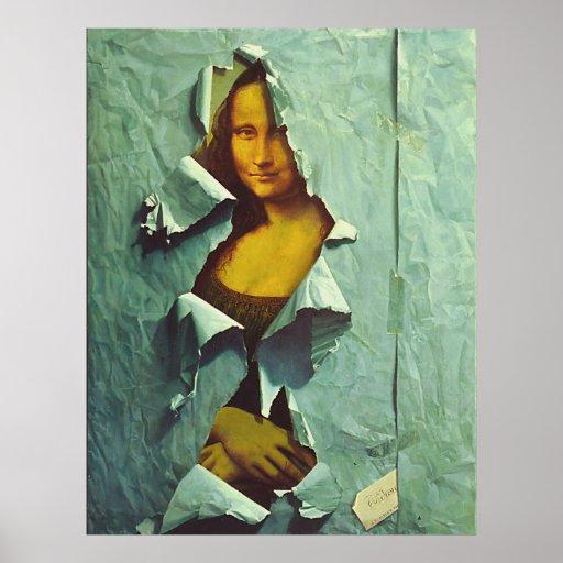 poster robado Mona Lisa divertido a partir del Póster