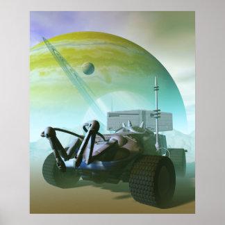 Poster robótico de Land rover