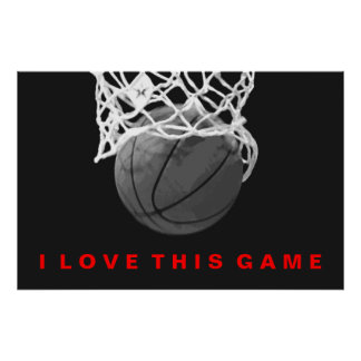 Poster rojo blanco negro del juego de amor del