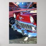 Poster rojo clásico del coche