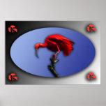 Poster rojo de Ibis