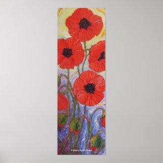 Poster rojo de la bella arte de las amapolas de Pa