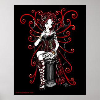 Poster rojo de la hada de las costuras de Sasha
