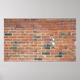Poster rojo de la textura de la pared de ladrillo