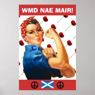 Poster rojo de las amapolas de la independencia es