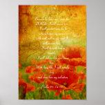 Poster rojo de las amapolas del salmo 91