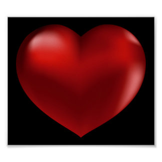 poster rojo del corazón 3D