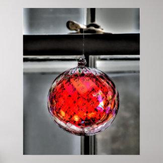 Poster rojo del globo