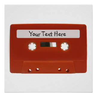 Poster rojo del personalizable de la cinta de case