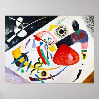 Poster rojo del punto de Kandinsky