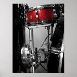 Poster rojo del tambor