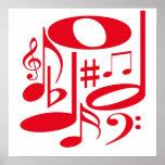 Poster rojo musical