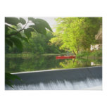 Poster rojo solo de la canoa