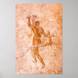 Poster - Roman Fresco, Ancient Pompeii, Italy