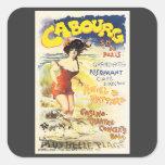 Poster romántico del día de fiesta del viaje de calcomanías cuadradass personalizadas