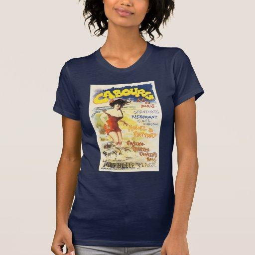 Poster romántico del día de fiesta del viaje de camisetas