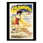 Poster romántico del día de fiesta del viaje de postal