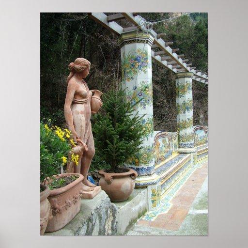 Poster romántico del personalizado de Italia