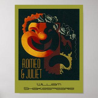 Poster Romeo y Juliet William Shakespeare del teat