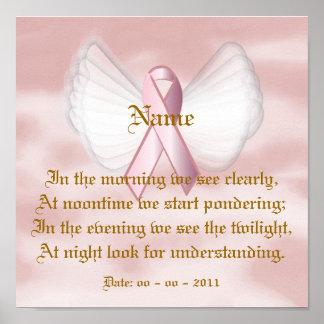 Poster rosado angelical del poema de la cinta - pe póster