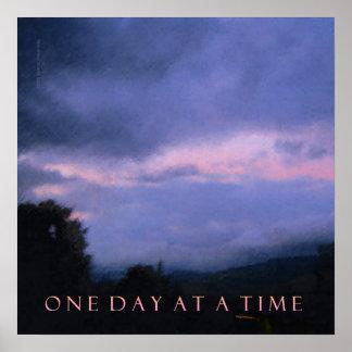 Poster rosado azul del cielo de ODAT