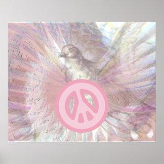 Poster rosado blanco del deslumbramiento de las al