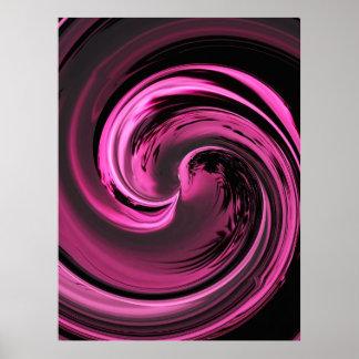 Poster rosado de la onda de la isla