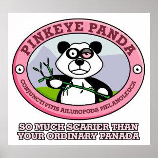Poster rosado de la panda del ojo