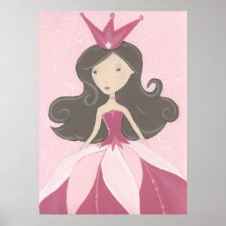 Poster rosado de la princesa