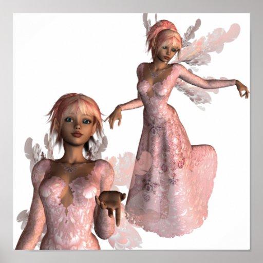 Poster rosado de los ángeles