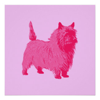 Poster rosado de Terrier de mojón