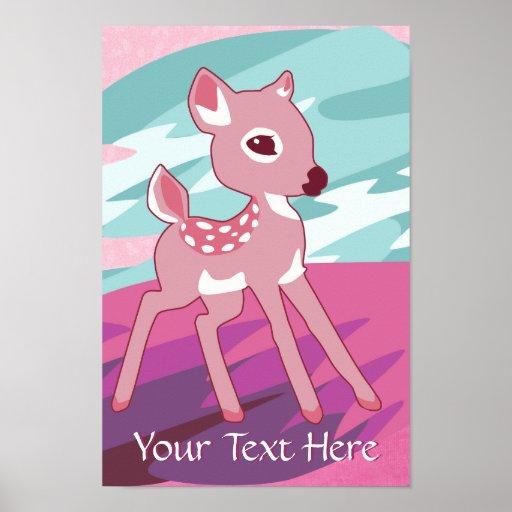 Poster rosado del cervatillo