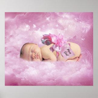 Poster rosado del dormitorio de la fantasía de las